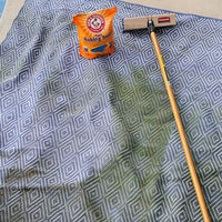 Outdoor carpet cleaning