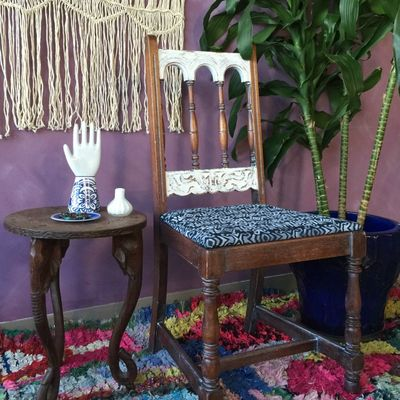 Final painted furniture upholstery how to stencil fabric