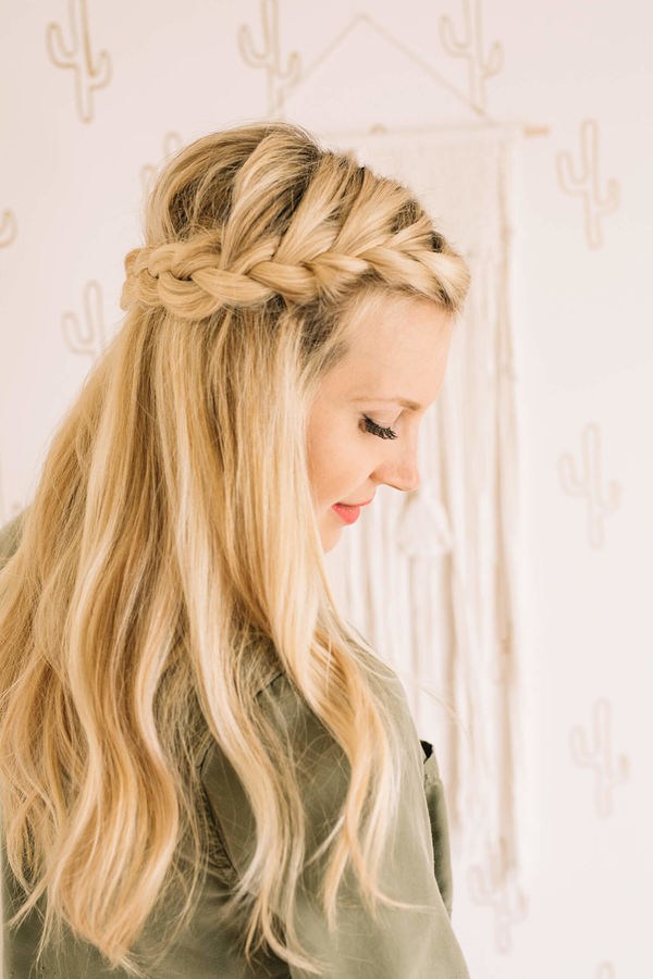 French braid half crown click through for tutorial 2