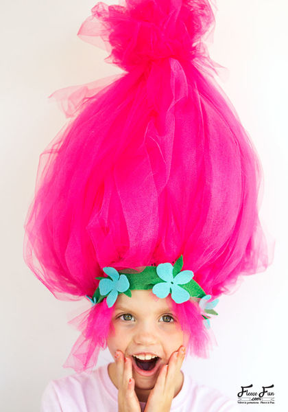 Troll hair diy on fleece fun 700 by 1000 pixels