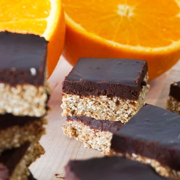 Vanilla orange chocolate bars no bake